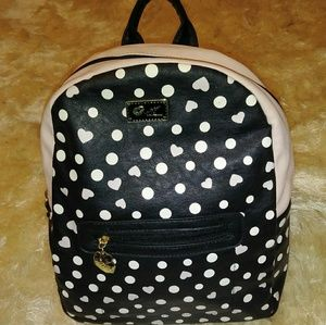 Like new pink and black betsy johnson backpack